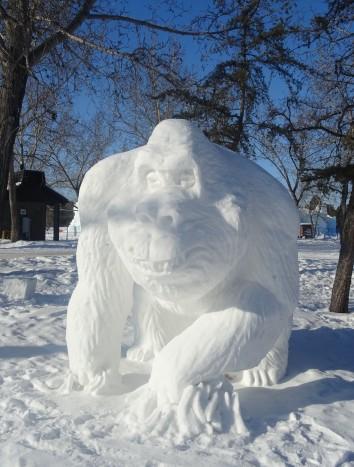 Sculptures de glace, Edmonton, Alberta
