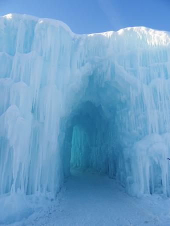 Ice Castle (Château de glace) à Edmonton, Alberta, Canada