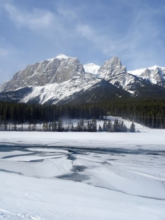 Canmore en hiver, Rundle Forebay