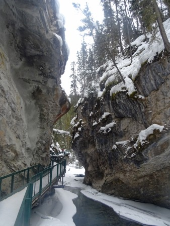 Randonnée au Parc national de Banff en hiver, Johnston Canyon