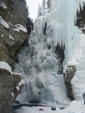 Randonnée au Parc national de Banff en hiver, Johnston Canyon, Upper falls