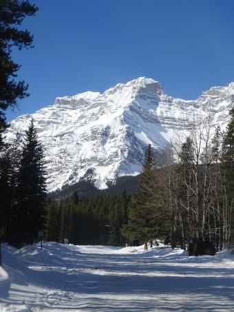 Lac Minnewanka, Parc national de Banff en hiver, Alberta