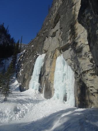 Grotto Canyon, Cascades gelées en Alberta, Canada