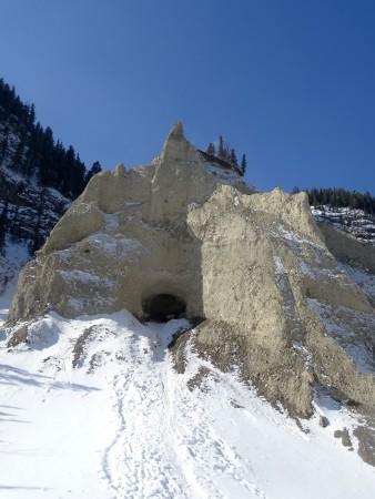 Randonnée Grotto Canyon en hiver, Alberta, Canada
