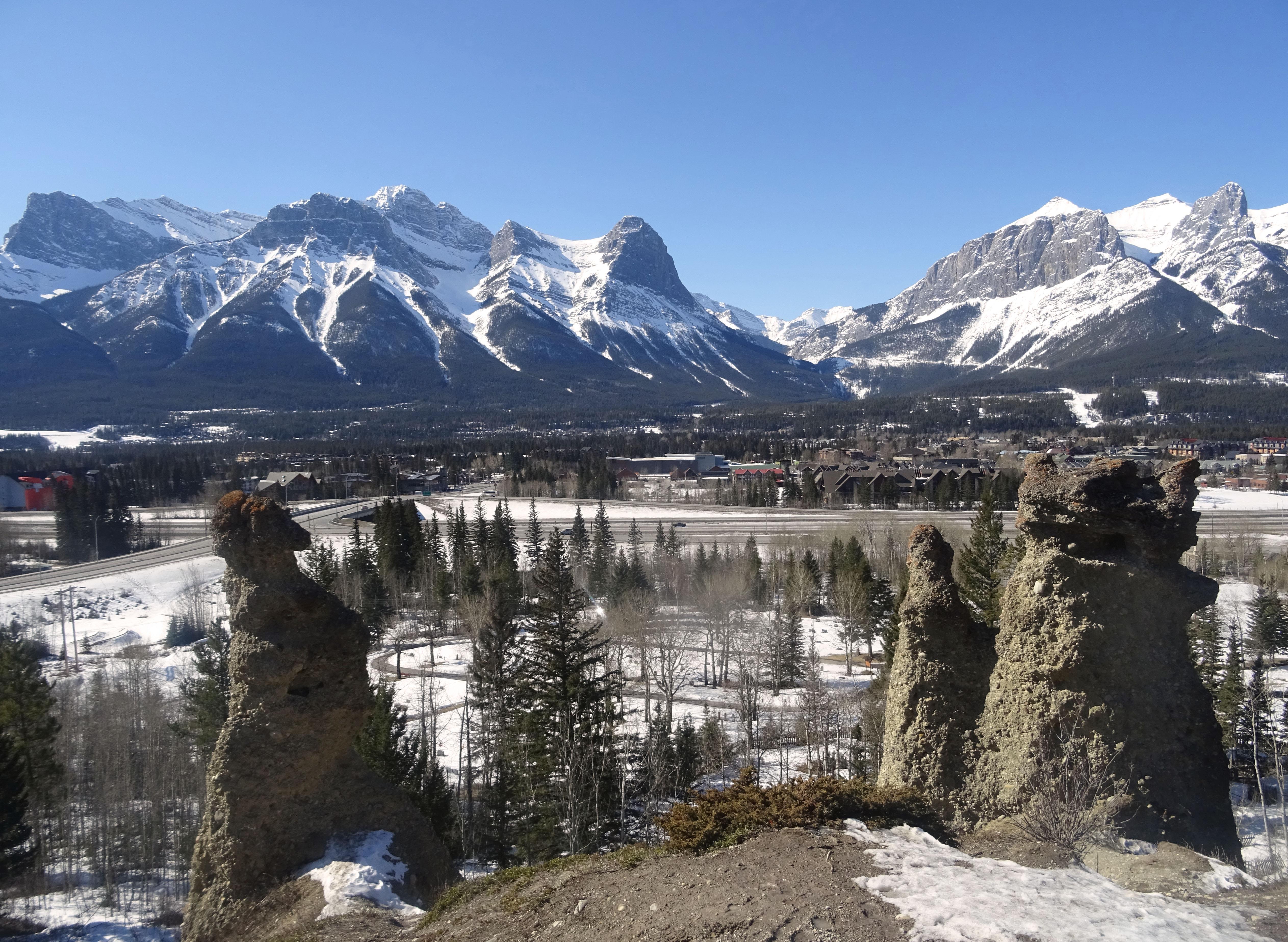 Canmore Hoodos , Alberta, Canada