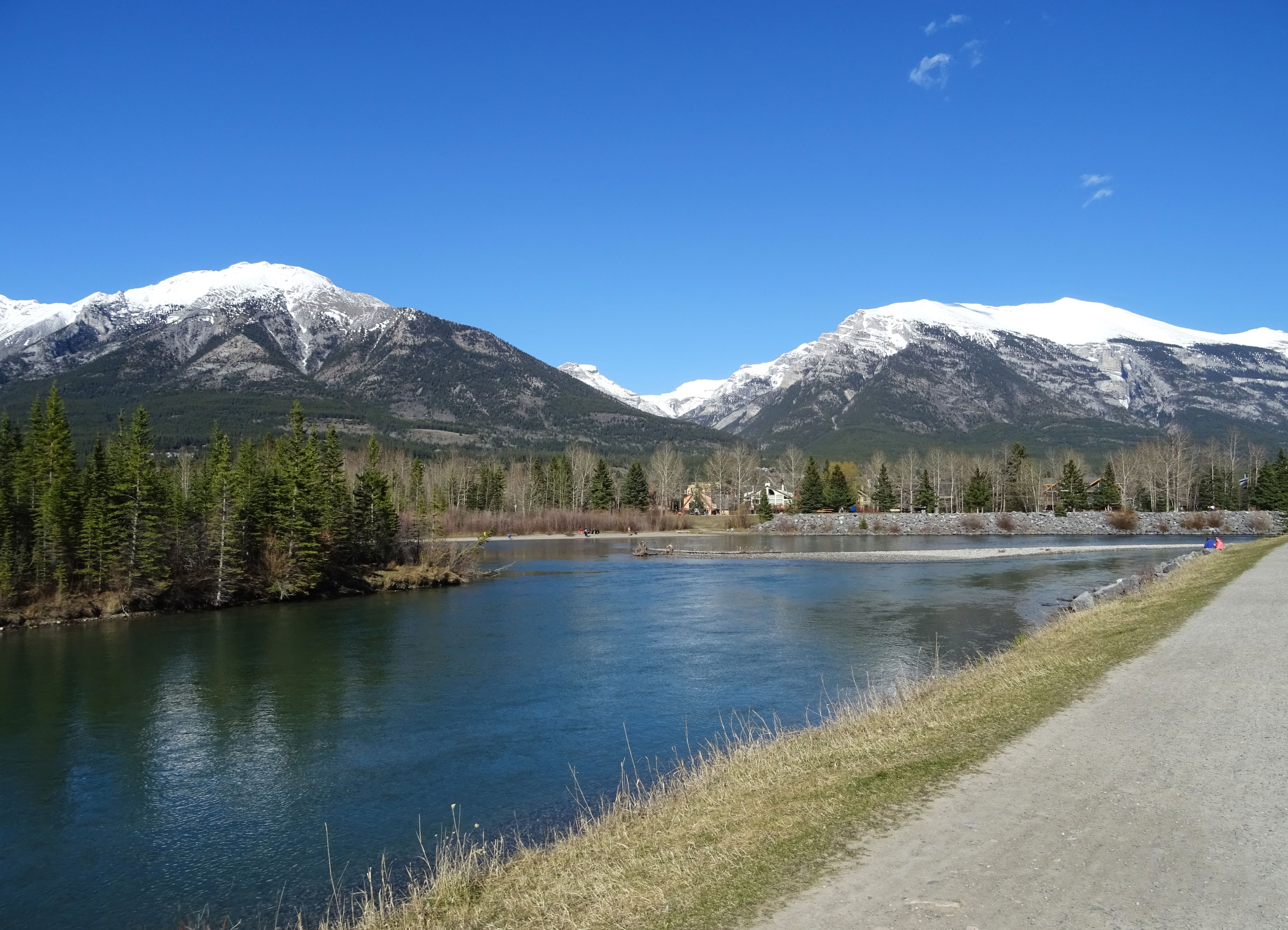 Rivière Bow, Canmore, Alberta, Canada